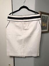 Arden B White Skirt Trimmed In Black 8