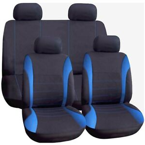 Blue Car Cloth Seat Cover Full Washable For Ford Focus Fusion Galaxy Ikon S-Max