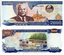 LAOS 2000 Kip Banknote World Paper Money aUNC Currency Asia BILL p33b 2003 Note