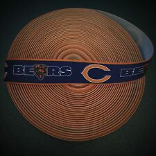 "7/8"" Chicago Bears Border Grosgrain Ribbon by the Yard (Usa Seller!)"