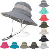 Women Bucket Hat Hunting Fishing Outdoor Cap Wide Brim Military Unisex Sun Hats