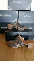 BELLISSIMO WOMENS PEWTER SHOES SIZE UK 7 / EU 40