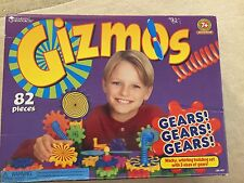 GIZMOS GEARS! GEARS! GEARS! BUILDING SET WITH THREE SETS OF GEARS 82 PIECES 7+