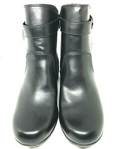 New Comfort Plus Ankle Boots W Buckle Black Womens Sz 8