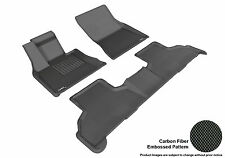 BLACK 2 Rows Floor Liners 3D Mats BMW X5 F15 2014-16 KAGU BLACK L1BM05501509
