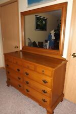 SUMTER CABINET CO. Solid Hard Rock Maple 10 Drawer Dresser with Mirror