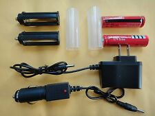 2X 18650 Battery &2X 18650 case &2X AAA holder &2X AC DC charger for CREE Q5 T6