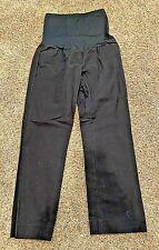 *NICE* Ladies GAP Maternity Tailored Cropped BLACK PANTS--FULL PANEL--Size 6R