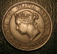 Old Canadian Coins 1876 H Canada Large Cent Highgrade