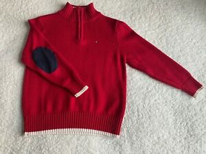 Boys Tommy Hilfiger red sweater sz 5