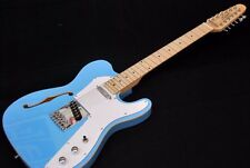 NEW 2017 12 STRING SEMI-HOLLOW THINLINE TELE DAPHNE BLUE ELECTRIC GUITAR