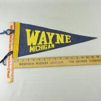 VTG Felt Pennant Historical Rare 1950s Wayne Michigan