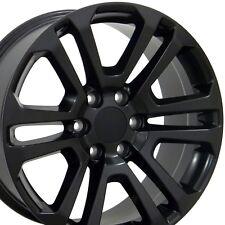 """20"""" Wheels for GMC Sierra Chevy Silverado 2500 Tahoe Yukon Black Rims Set Of 4"""