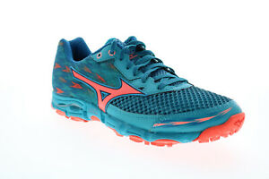 Mizuno Wave Hayate 2 Womens Blue Wide 2E Mesh Low Top Athletic Running Shoes 8