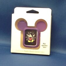 NEW! SILICONE MOUSE EARS CASE FOR APPLE WATCH SERIES 1, 2, 38mm, PURPLE