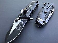 TAC FORCE Spring Assisted Open LED Light EMT EMS Folding Pocket Rescue Knife NEW