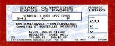 1999 Tony Gwynn 3000th Hit Game Ticket Unused August 6, 1999 Vs Montreal Expos
