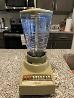 Vintage 10 Speed 5 Cup Osterizer Blender Plastic Pitcher Avocado Green