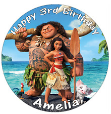 """Disney Moana Personalised Edible Cake Topper Wafer Paper 7.5"""""""