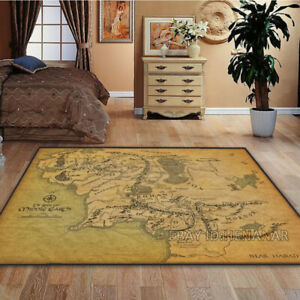 The Lord of the Rings Carpet Area Rug Decor Floor Rug Multi-function Non-slip