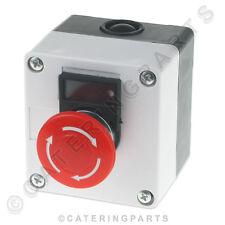 UNIVERSAL weiß / ROT NOTFALL STOPP BUSH TASTE 1NO 1NC 10A IEC337 75x80mm
