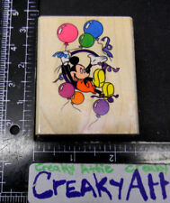 PARTY BALLOONS CELEBRATING MICKEY MOUSE RUBBER STAMP STAMPEDE DISNEY 419-E