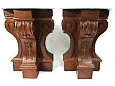 Pair Architectural Neoclassical Mirror Top End Side Tables Pedestal Lamp Coffee