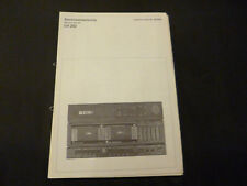 Original Service Manual Schneider CV 282