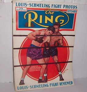 Vintage September 1938 The Ring Boxing Magazine Louis-Schmeling Fight Photos