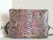 b009fb20ec Brahmin Perri Crossbody Snake Opal Berry Seville Leather Bag Built-In  Wallet NWT