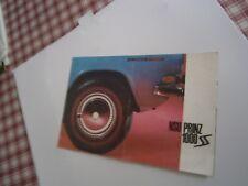 Catalogue pub auto prospectus voiture NSU Prinz 1000 SS
