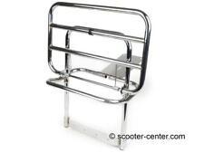 Chrome Vespa Back Rack Rear Carrier Spring Fold PX LML 2T T5 Classic 125 150 200