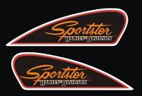Kit Adesivi HARLEY DAVIDSON Sportster serbatoio vintage PVC alta qualità tank