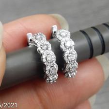 DEAL! 0.50 Carat Natural Round Diamonds Hoops Huggies Earrings in 14k Gold