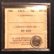 1913  Canada George V Five 5 Cents  ICCS Graded