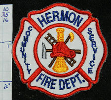 "NEW YORK, HERMON FIRE DEPT SMALL 2.5"" PATCH"