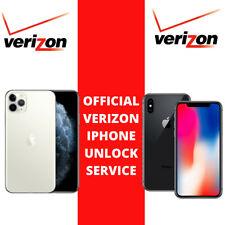 VERIZON USA IPHONE FACTORY UNLOCK SERVICE 11Pro Max 11Pro 11 XS XS Max XR X 8 7