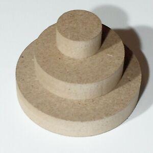 MDF Runde Holzscheibe Rund Holz Scheiben Kreis Tischplatte Basteln Ø50mm-Ø1000mm