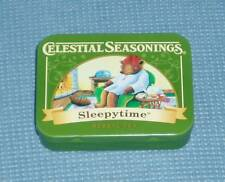 NEW Celestial Seasonings Tea Tin - Quote on Back - Sleepytime Herb Tea Bear 2016