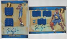 Damian Jones ROOKIE Jersey Autos x2, 2016-17 Gold standard NBA