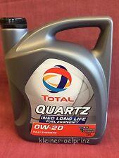 5 litre Total Quartz Ineo Long Life 0W-20 l'huile de moteur VW 508.00/509.00