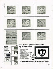 PUBLICITE ADVERTISING 094  1965  BP   huiles  automobiles