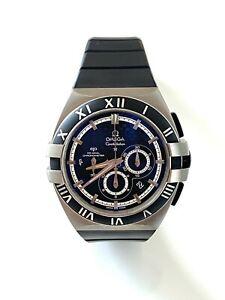 Omega Constellation Double Eagle Co‑Axial Chronograph Titanium Men's Watch