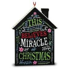 The Miracle of Chirstmas 2016 Hallmark Ornament Family Christmas Holiday House