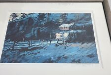 "Rolf Harris Signed LImited Edition Print - ""Canadian Mountain Shack"" Framed"