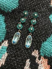 Earrings In teal/blue Colour Wedding Party Eid Costume Jewellery