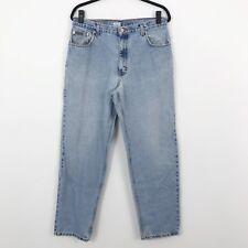 Calvin Klein Vintage 90's Double Stone Wash Denim High Waisted Mom Jeans Sz 34