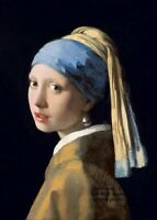 Girl With a Pearl Earring PHOTO Art Print of Vermeer Painting Beautiful Girl