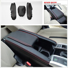 3Pcs Luxurious PU leather Center Armrest Box Leather Case Covers For Honda Civic