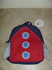 Boys New Pottery Barn Kids Rocket Pre-K Mini Preschool Backpack  NO MONOGRAM